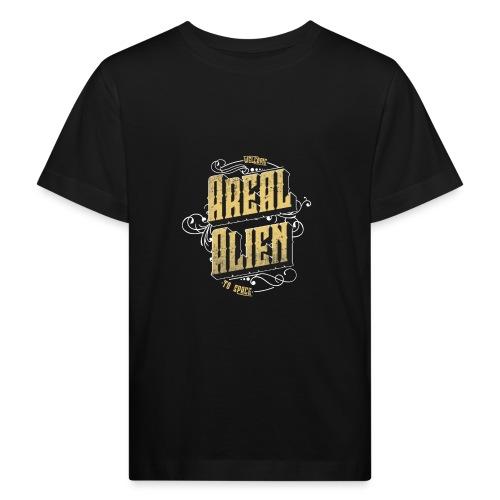 Areal Alien Vintage logo - Økologisk T-skjorte for barn