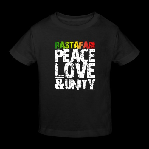 RASTAFARI - PEACE LOVE & UNITY - Kinder Bio-T-Shirt