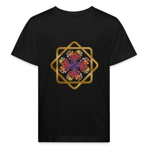 Kleeblatt aus Herzen Octagram - Glück Liebe Sicher - Kinder Bio-T-Shirt