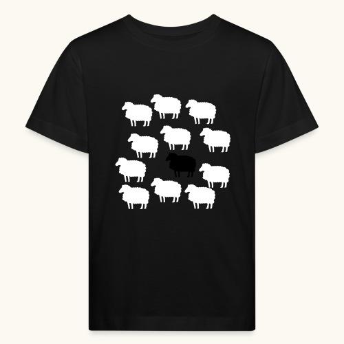 Lustige Schafherde Schwarzes Schaf Geschenkidee - T-shirt bio Enfant