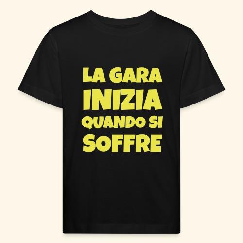 Frase Ironica - La Gara Inizia - FLAT - Maglietta ecologica per bambini