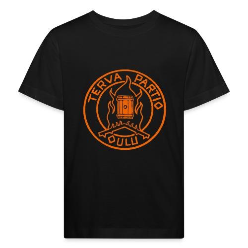 Tervapartio_oranssi - Lasten luonnonmukainen t-paita