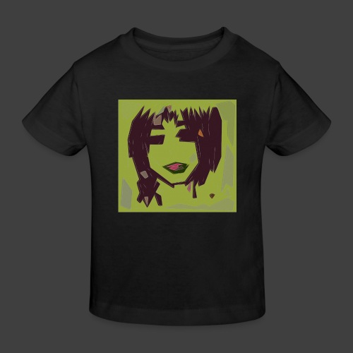 Green brown girl - Kids' Organic T-Shirt