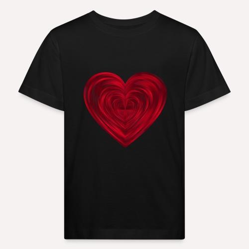 Love Heart Print T-shirt design - Kids' Organic T-Shirt