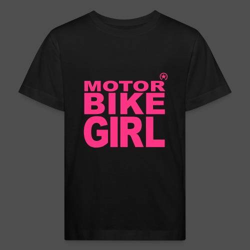 Dziewczyna motocykl - Ekologiczna koszulka dziecięca