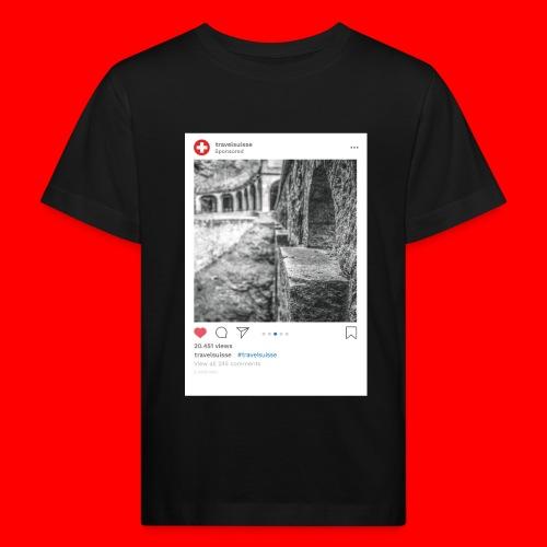 travelsuisse - Bruecke nah - Kinder Bio-T-Shirt