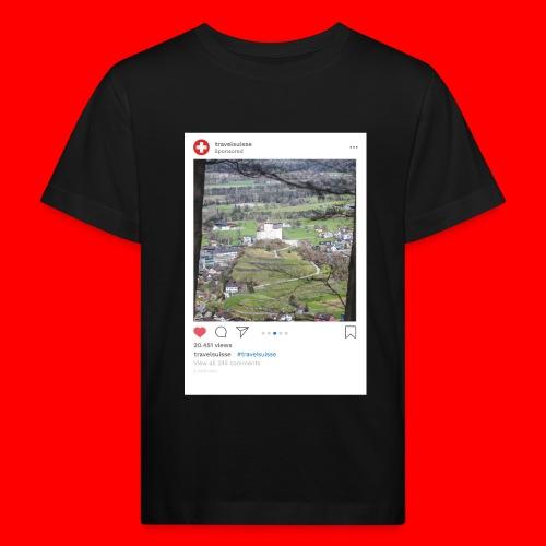 travelsuisse - Burg Balzers - Kinder Bio-T-Shirt