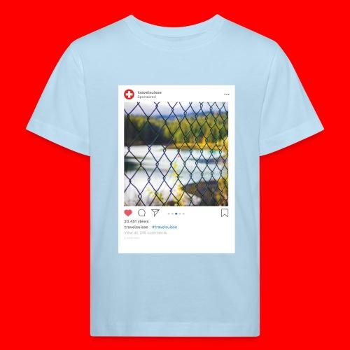 travelsuisse - Caumasee Zaun - Kinder Bio-T-Shirt
