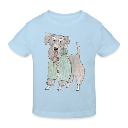 schnauzer with sweater - Organic børne shirt