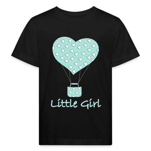 Little Girl in mongolfiera - Maglietta ecologica per bambini