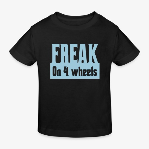 Gek op vier rolstoel wielen - Kinderen Bio-T-shirt