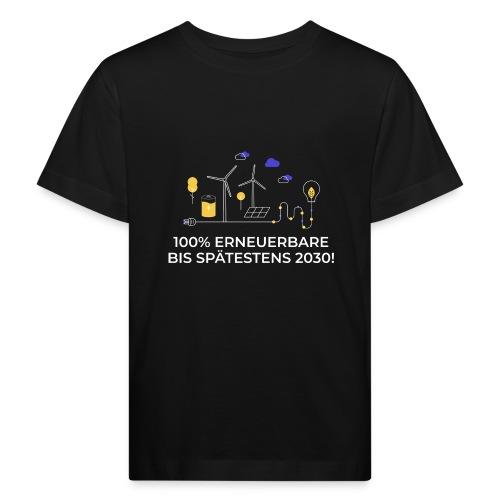 100% Erneuerbare bis spätestens 2030 weiß - Kinder Bio-T-Shirt