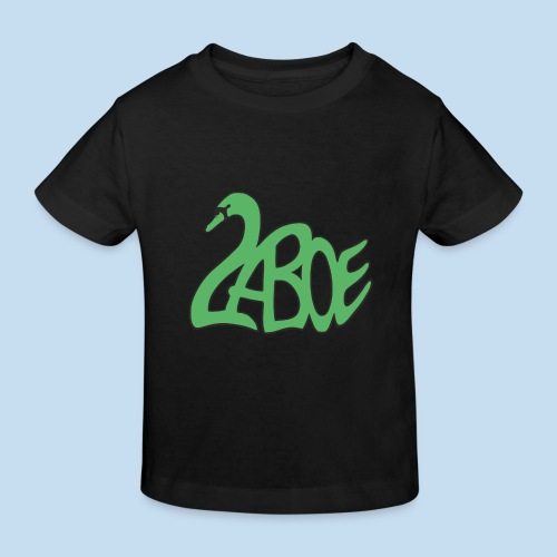 Laboe Schwan grün - Kinder Bio-T-Shirt