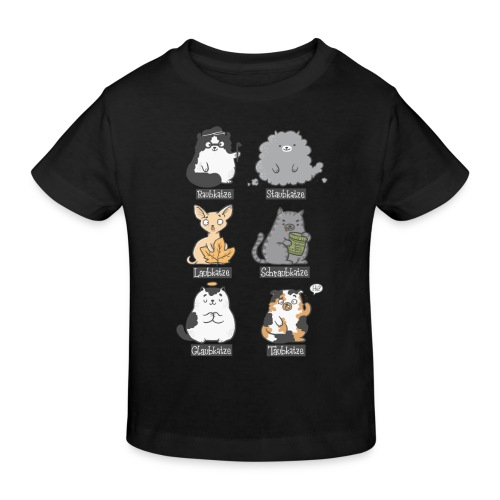 Aub-Katzen - Kinder Bio-T-Shirt