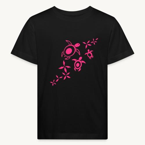 blumige Wasserschildis - Kinder Bio-T-Shirt