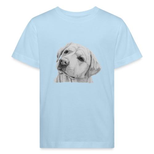 labrador retriever yellow - head - Organic børne shirt