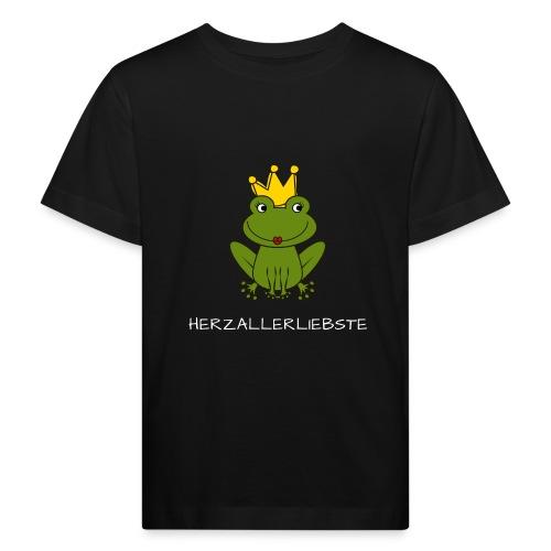 Froni mit Schriftzug Herzallerliebste (weiß) - Kinder Bio-T-Shirt
