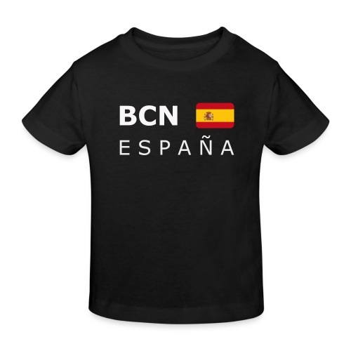 BCN ESPAÑA white-lettered 400 dpi - Kids' Organic T-Shirt