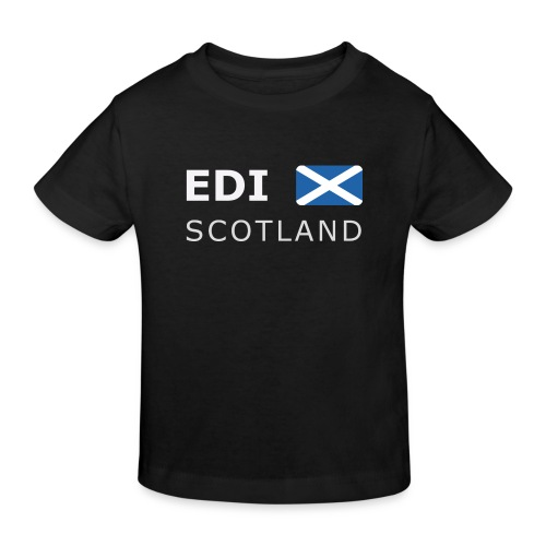 EDI SCOTLAND white-lettered 400 dpi - Kids' Organic T-Shirt
