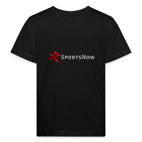 SportsNow-Logo mit weisser Schrift - Kinder Bio-T-Shirt