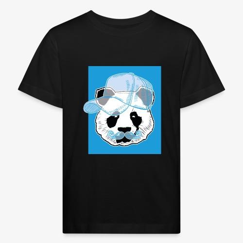 Panda - Cap - Mustache - Kinder Bio-T-Shirt