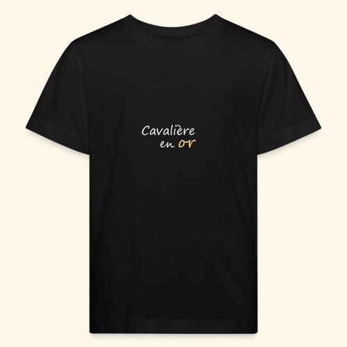 Cavalière en or - T-shirt bio Enfant