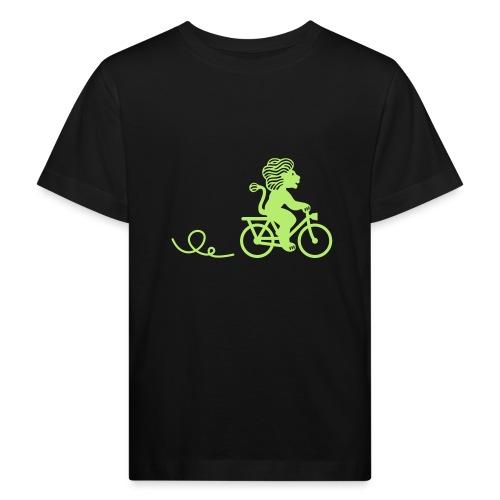 Züri-Leu beim Velofahren ohne Text - Kinder Bio-T-Shirt