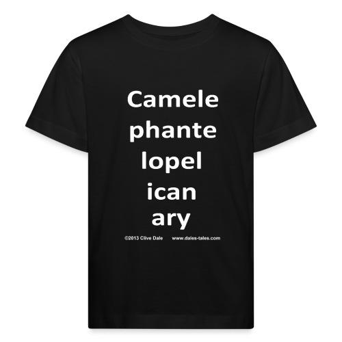 camelepha 5lines white - Kids' Organic T-Shirt