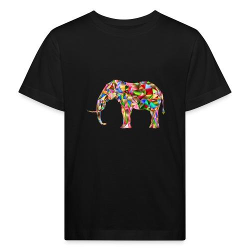 Gestandener Elefant - Kinder Bio-T-Shirt