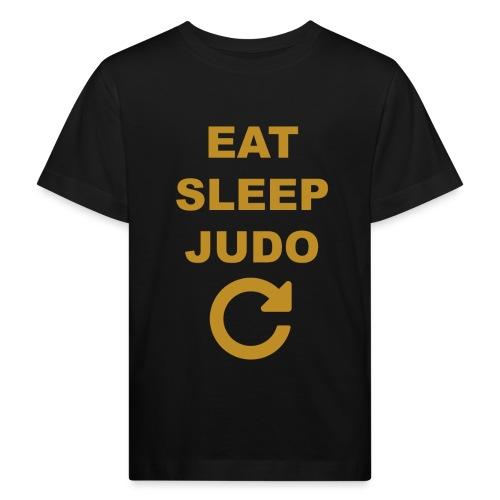 Eat sleep Judo repeat - Ekologiczna koszulka dziecięca