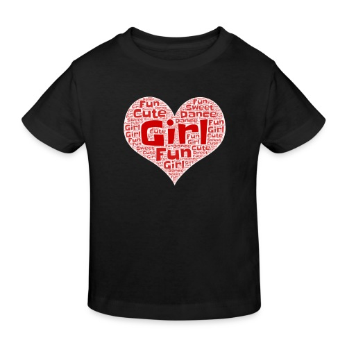 Girl heart - Kinderen Bio-T-shirt