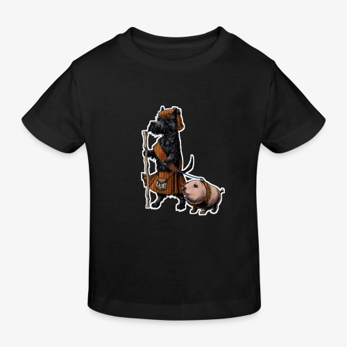 Scottie and Haggis dark t - Kids' Organic T-Shirt