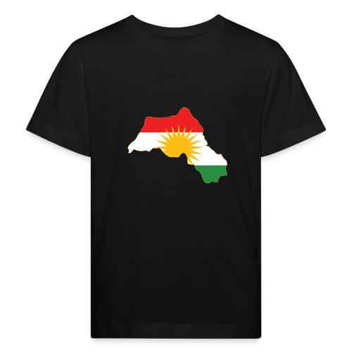 Kurdistan Flag Map - Kinder Bio-T-Shirt