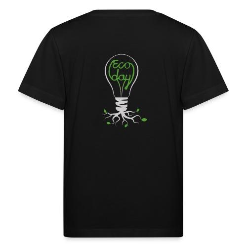 Logotyp Ecoday genomskinlig för mörk bakgrund png - Ekologisk T-shirt barn