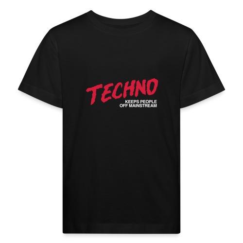 Techno music - Kids' Organic T-Shirt