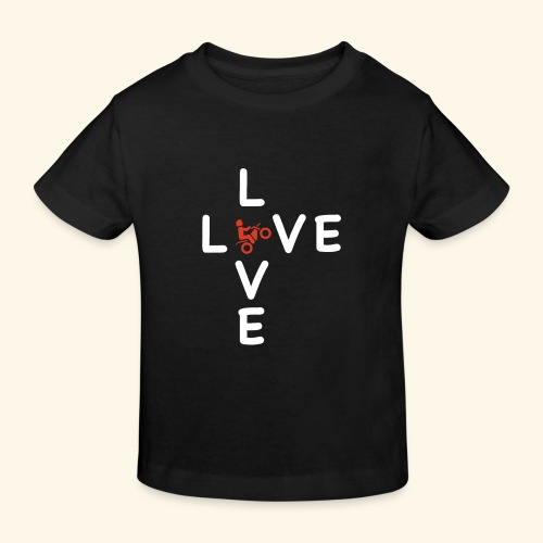 LOVE Cross white wheely red 001 - Kinder Bio-T-Shirt