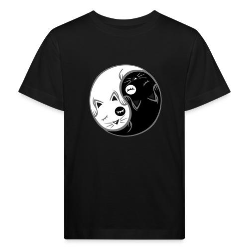 Yin Yang katze flex - Kinder Bio-T-Shirt
