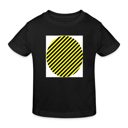varninggulsvart - Ekologisk T-shirt barn