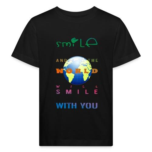 Smile - Lasten luonnonmukainen t-paita