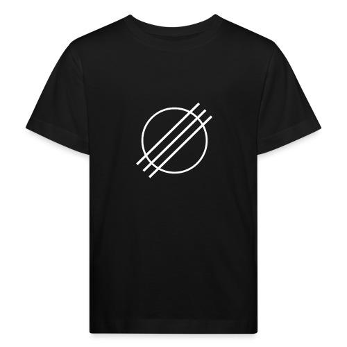 DJ Øyvind Offisiell Logo (hvit) - Økologisk T-skjorte for barn