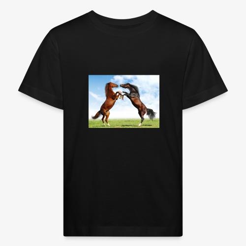 kaksi hevosta - Lasten luonnonmukainen t-paita