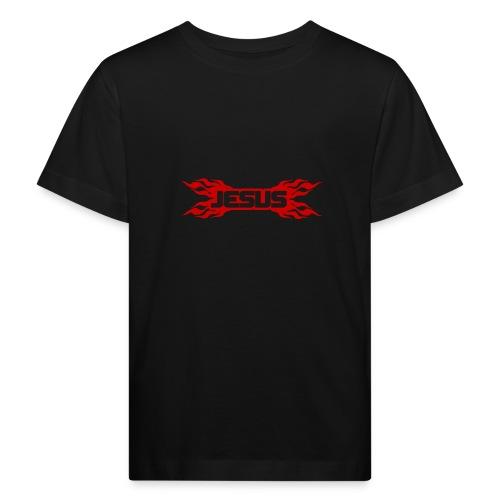 Flaming Jesus Logo 01 - Kids' Organic T-Shirt