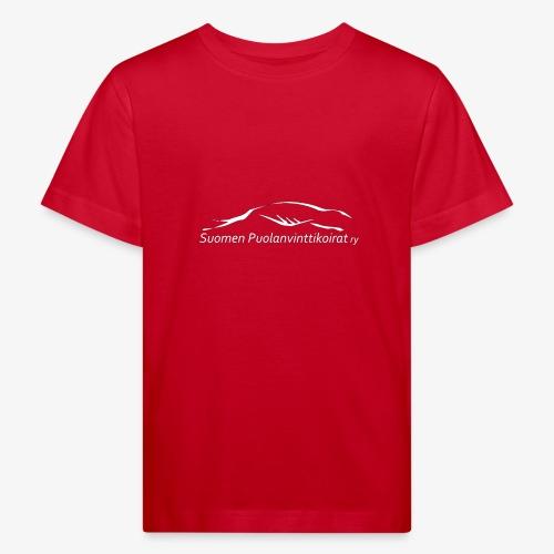 SUP logo valkea - Lasten luonnonmukainen t-paita