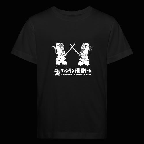 fka team logo white - Lasten luonnonmukainen t-paita