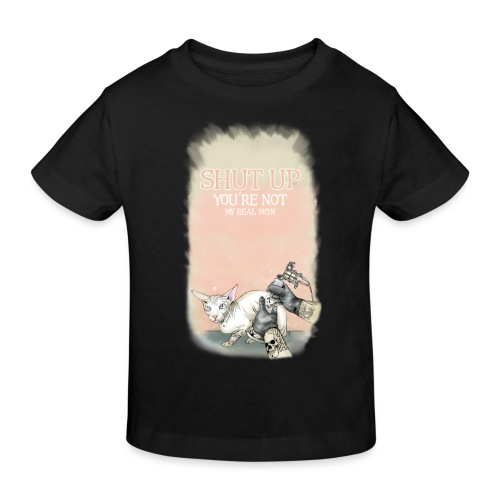 tätowierte Katze - Kinder Bio-T-Shirt