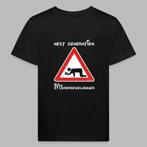 Warnschild Mikromodellbauer Next Generation - Kinder Bio-T-Shirt