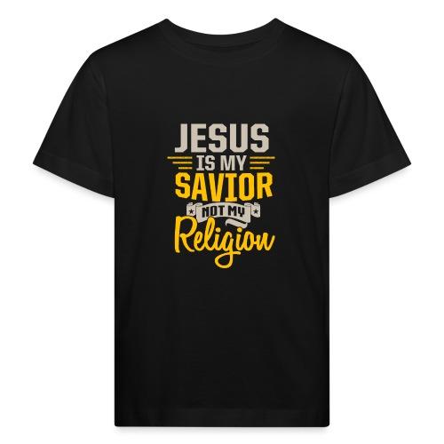 Jesus ist mein Erlöser - Kinder Bio-T-Shirt
