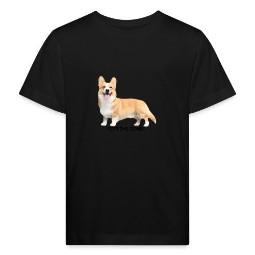 Topi the Corgi - Black text - Kids' Organic T-Shirt