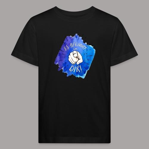 shirt blau tshirt druck - Kinder Bio-T-Shirt