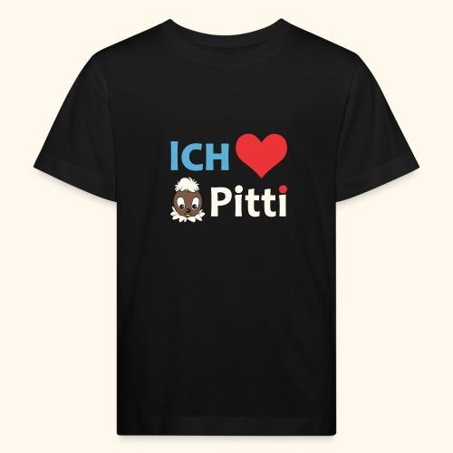 Pittiplatsch Ich liebe Pitti auf dunkel (blau/crem - Kinder Bio-T-Shirt
